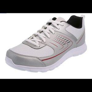 Men's athletic shoe grey trainer sneaker runner